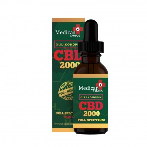 Olejek konopny CBD 2000 mg  (20%) FULL SPECTRUM 10 ml