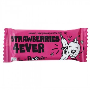 Baton owocowy Roobar 30g Strawberries 4ever